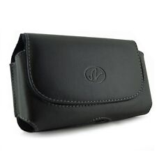 Black Leather Pouch For Samsung Galaxy Mega 6.3, fit with Otterbox Commuter Case