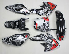 3M Graphics Decals sticker Black Plastics For Honda CRF 70 CRF70 Pit Dirt Bike 4