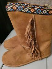 Tassle Faux Fur Boots Size 4