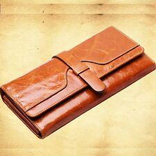 Women's PU Leather Card Clutch Long Trifold Wallet Purse Handbag Evening Bag New