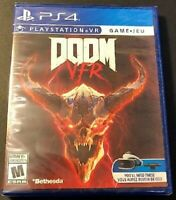 🔥New Sony PS4 PlayStation 4 Doom VFR VR PSVR Game Disc 2017 FPS New Sealed