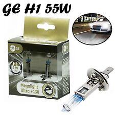 2x GE H1 55W 12V P14,5s MegaLight Ultra +130 Klar Weiß Scheinwerfer Ersatz Birne