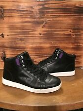 CLAE Russell Black Leather Sneakers High-Tops Solid size 9.5 EUC