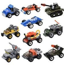 Mini Building Bricks Military Vehicles, Pack Of 10