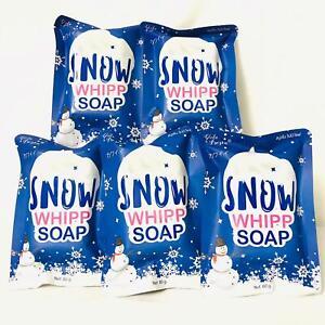 5pcs Gluta Frozen Snow Whipp Body Soap Bar Whitening Skin Collagen 80g Au Seller