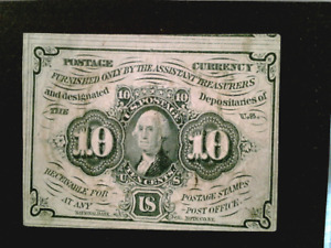 U S stamps Scott PC6 postal currency ten cent issue used cv 85.00