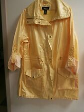 Style & Co.YELLOW  Rain Coat Jacket Size XL NWT