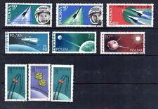 Poland Set Of 9 Stamps Space Soviet Russia Vostok Cosmonauts 879