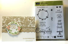 Stampin UP~Your Perfect Day set~Cake Wreath & Sprig~use with something lacy