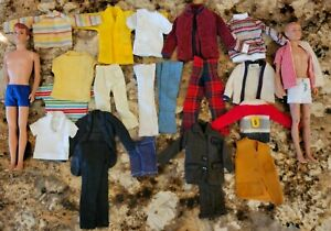 VINTAGE BARBIE KEN ALLEN BOB BILL CLONE CLOTHES LOT WITH DOLLS! Cheap!!