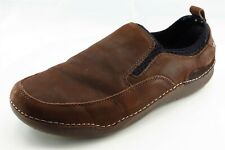 Hush Puppies Shoes Sz 10 EW Round Toe Brown Loafer Leather Men