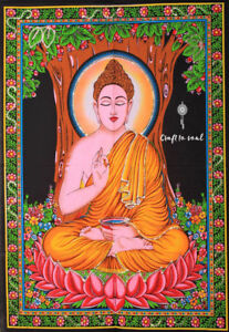 Buddha Tapestry Meditation Spiritual Uplifting Meditative Yoga Wall Hanging
