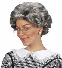 Parrucca Agatha Uomo Donna grigia adulto WIDMANN
