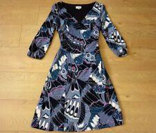 KAREN MILLEN Ladies Butterfly Pattern Stretchy Dress Size UK 10 EU 38 US 6