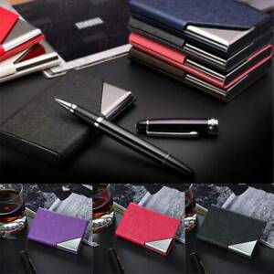 Stainless Steel Business ID Credit Card Holder Wallet Metal Pocket Card Case CH