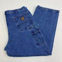 Carhartt Workwear Jeans Mens 42X30 Blue Straight Leg Original Fit Medium Wash
