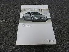 2011 Audi A4 Sedan Owner User Manual Premium Prestige Plus 2.0T Turbo Quattro