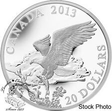 Canada 2013 $20 The Bald Eagle Returning From the Hunt 1 oz Pure Silver Coin