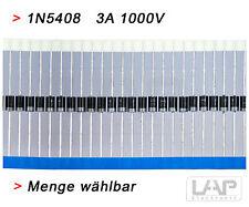 10 x Diode 1N5408 1000V 3A DO-201 Gleichrichterdiode Diode Rectifier Dioden