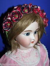 uralte Blumengirlande Haarkranz für Porzellanpuppen u.a. Puppen sehr charmant !