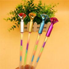 1X Diamond Head Crystal Ball Pen Concert Pen Rainbow Pen Stationery Gift Hot