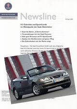 SAAB 93 9-3 Cabriolet Sport Combi Presseinformation Presse Dokument 2005 47