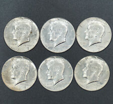 1967 Kennedy Half Dollar Lot of 6 Uncirculated .40 Silver Coins BU
