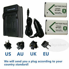 2pcs NP-BX1 Battery+charger for Sony DSC-HX90V DSC- RX1 HX50 HX60 HX300 WX305