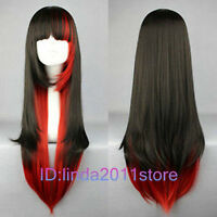 Hot Sell! Lolita Long Multi-Color Mixed Straight Cosplay wig + Wig cap NO:A118