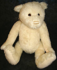 GUND 100 Years of Hugs WHITE TEDDY BEAR Jointed Plush MOHAIR Feel Doll GUND
