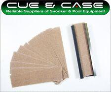 Peradon 4 Inch Cue Tip Shaper & 10 Sandpaper Shaping Pads