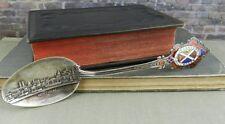 Sterling Silver Montreal Concordia Salus Enamel Souvenir Spoon