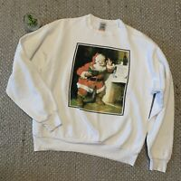 VTG Coca Cola Santa Claus Jimmy Christmas Sweatshirt Adult XL Made In USA 90s