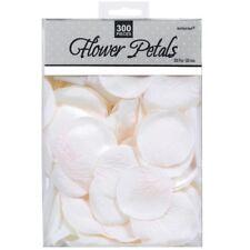 White Fabric Rose Petals Wedding Flowers Confetti Table Aisle Decoration 300pk