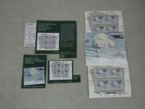 Nystamps Canada mint NH stamp souvenir sheet Autographed by designer paid $100