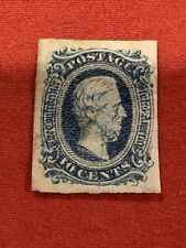 USA 1863 Confederate States 10¢ Blue Scott 12 Dark Blue  Used