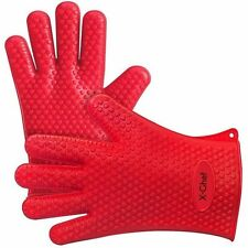 Silicone Gloves, X-Chef Heat Resistant Oven Mitts BBQ Gloves for Cooking Baking