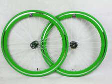 Green Single Speed wheels wheelsets Fixed Fixie 700c flip-flop hub 2