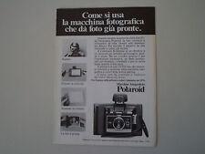 advertising Pubblicità 1970 POLAROID