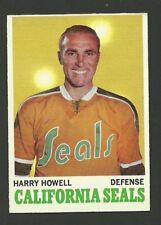 Harry Howell California Golden Seals 1970-71 Topps Hockey Card #72 NM