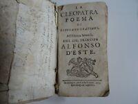 La Cleopatra poema di Girolamo Gratiani – Bologna 1652