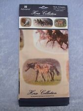TEA TOWEL - 100% COTTON - HORSE COLLECTION - HORSES - VARIOUS BREEDS - LOVELY