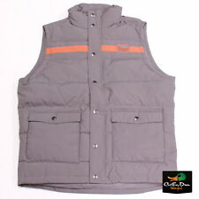 BANDED GEAR VINTAGE DOWN VEST CASUAL WEAR GREY GRAY LARGE