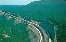 INTERSTATE I-80 KEYSTONE SHORTWAY PENNSYLVANIA AERIAL VIEW CLINTON POSTCARD