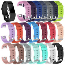 Replacement Watch Strap for Fitbit Charge 2 Band Silicone Bracelet With Buckle