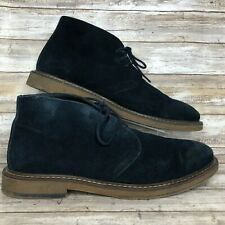 Joseph Abboud Mens 12M Blue Soft Suede Desert Chukka Boot Lace Up