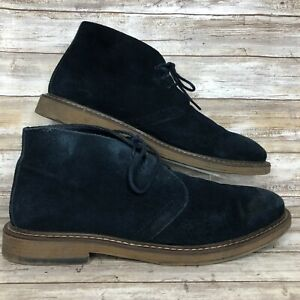 Joseph Abboud Mens 12M Desert Chukka Boot Blue Soft Suede Lace Up