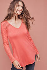 NWT Anthropologie By Deletta Lace-Line Tee, Size XS