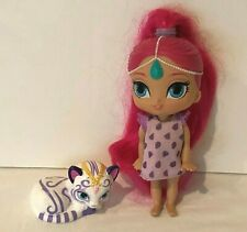 Fisher Price Shimmer and Shine Sweetie Genies Shimmer Doll Pet Cat Pink Hair
