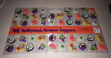 48 Halloween Eraser Toppers Pencil Pumpkin Skull Boo Witch Teacher Supplies New